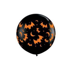 Ballon Latex Halloween Lune et Chauve-Souris