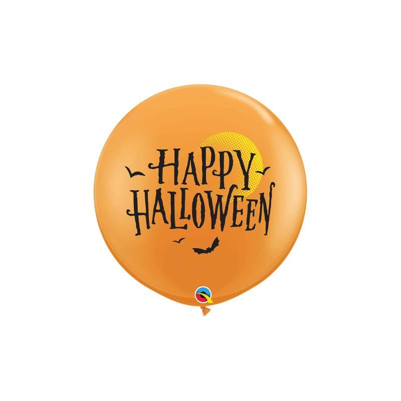 Ballons Latex Happy Halloween Moon and Bats