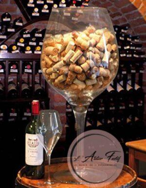 Vase verre à vin deco