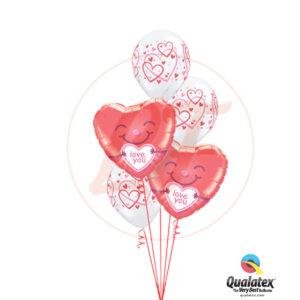 Bouquet de ballons pour lui dire je t'aime