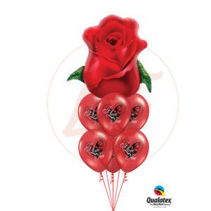 Bouquet de ballons un amour fleurit