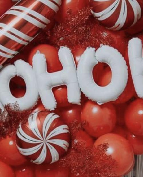 Ballons Noel Rouge