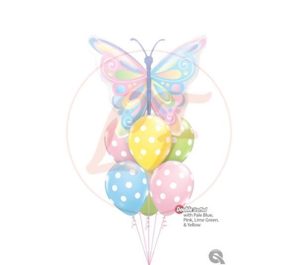 Bouquet papillon polka dots