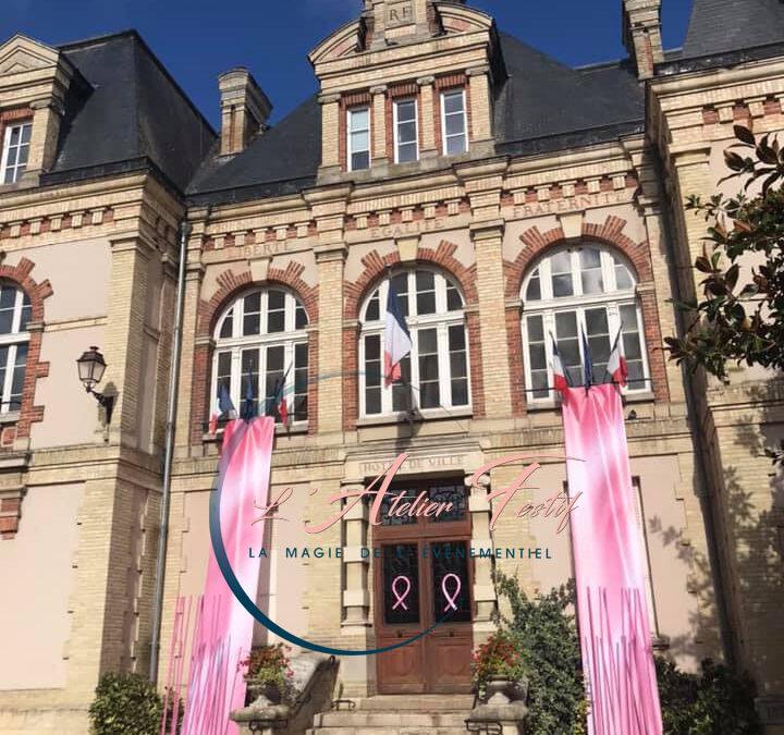 Décoration Mairie du Malesherbois Octobre rose