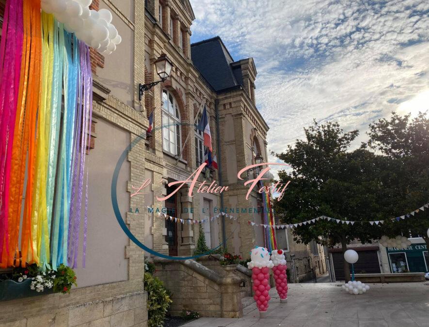 Décoration Mairie du Malesherbois thème été 14 juillet