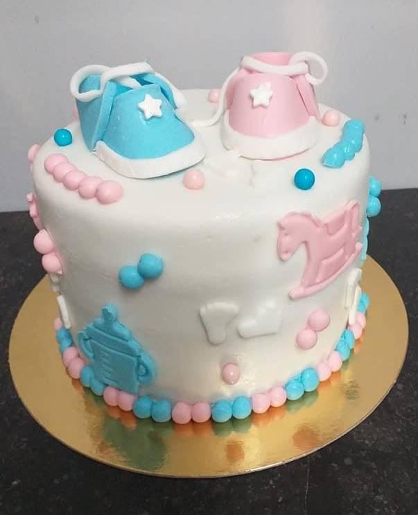 Layer cake baby shower