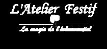 Logo Blanc Atelier Festif