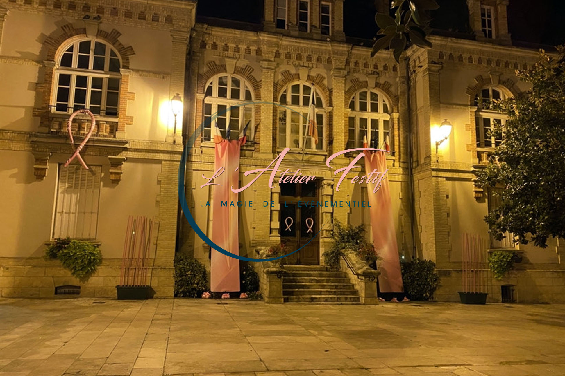 Octobre Rose décoration Mairie Malesherbes
