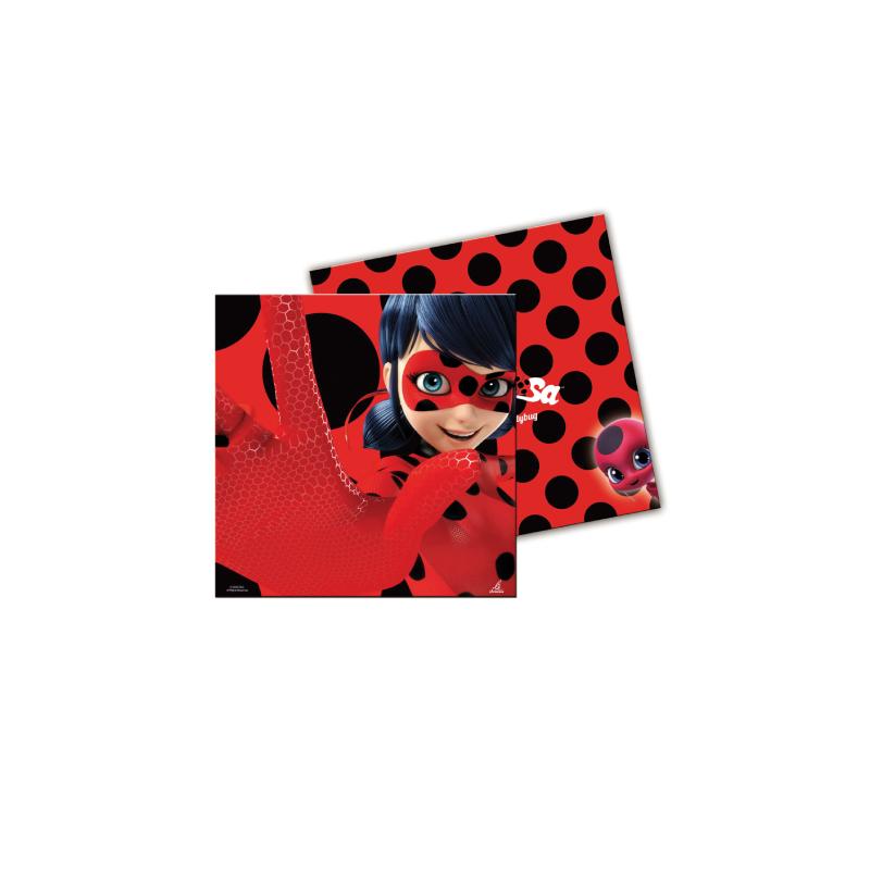 Serviettes Papier Lady Bug Rouge