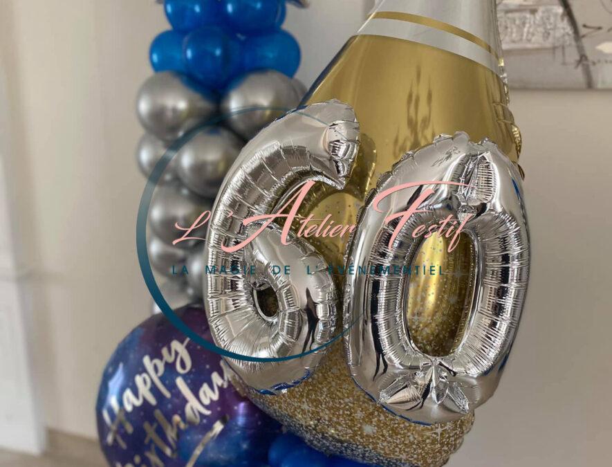 bouquet de ballons anniversaire