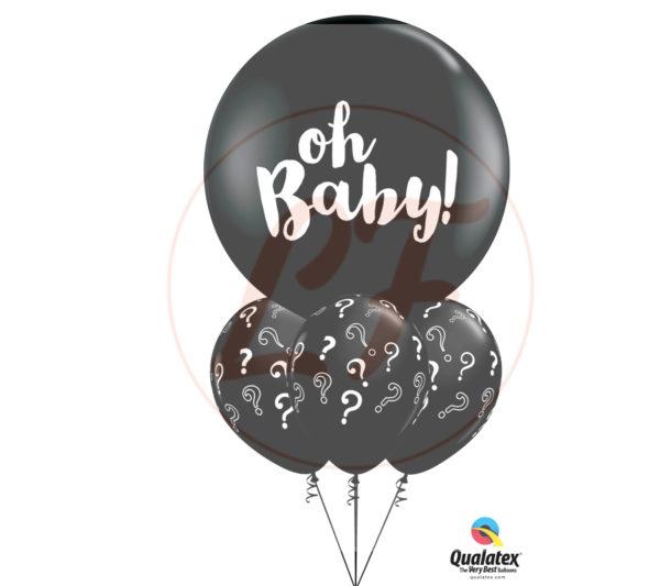 bouquet de ballons révélation du sexe de bébé avec confettis