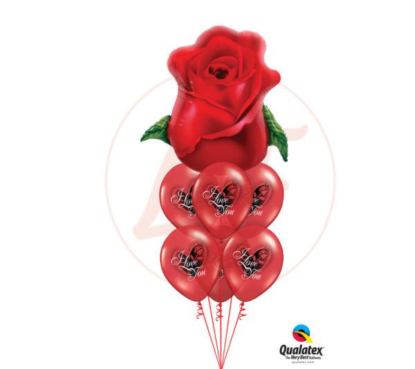 ballons un amour fleurit