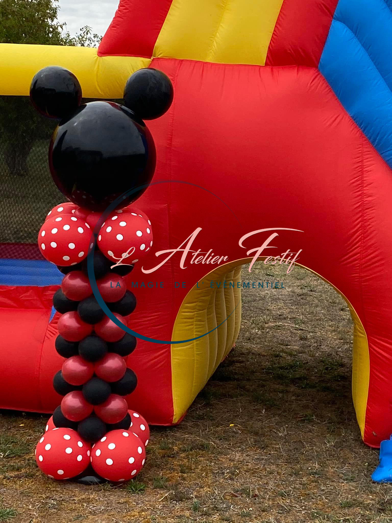 Colonne de ballons thème Mickey