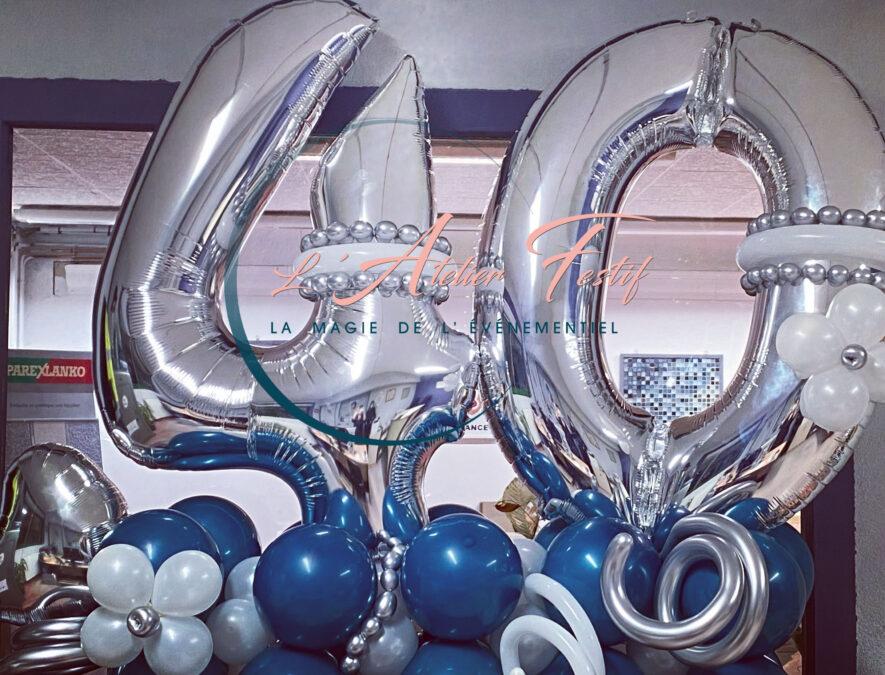 composition ballons 40 ans