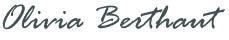 Signature Olivia Berthaut